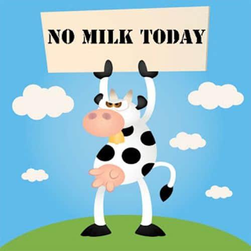 geen melk